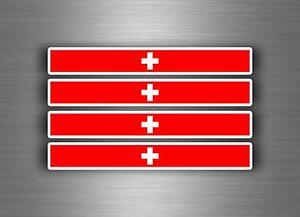4x-flagge-Aufkleber-auto-moto-motorrad-fahne-flaggen-stripes-swiss-schweiz