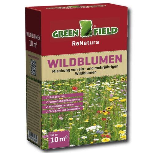 Greenfield fiori selvatici 250g fiori miscela 25 specie COLORATO 10 m² 50cm wuchsh