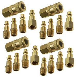 20-BRASS-QUICK-CONNECT-Coupler-Air-Compressor-Hose-SET
