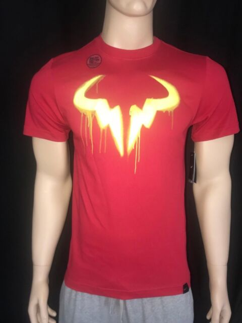 Nike Women S Sz M Rafael Nadal Vamos Bull Logo Tennis T Shirt 887028 100 For Sale Online Ebay
