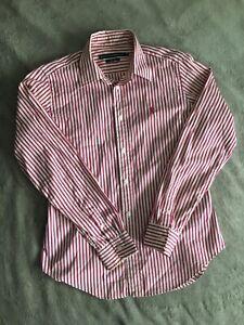 Women-039-s-Pinstripe-Ralph-Lauren-Shirt-Polo-Sport-Pink-Size-10