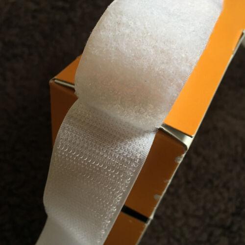 Qualité 30 mm Sew On-Blanc Velcro ® marque Crochet /& Boucle 50 cm 10 mètres
