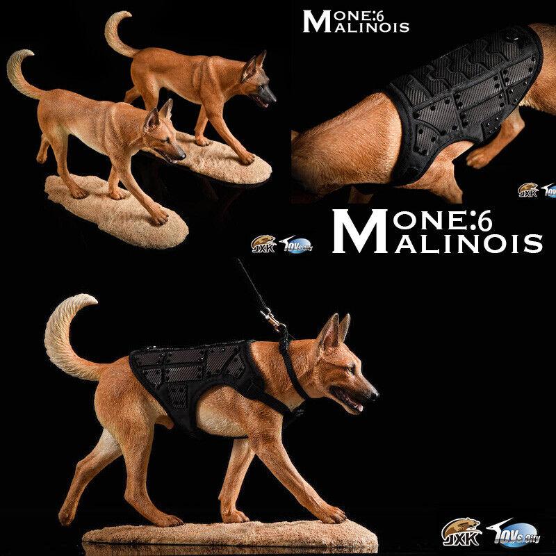 JXK JXK019 1  6 Resin Belgian Malinois Dog modellololo Loyal polizia Dog cifra Statue  la migliore selezione di