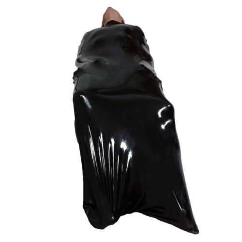 Brand New Latex Rubber Black Big Body Bag Sleep Sauna Sack one size