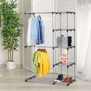 Image Is Loading Closet Organizer  Storage Rack Portable Wardrobe Garment Hanger