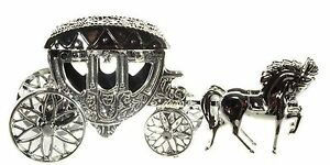 Hochzeit-Mini-Kutsche-zum-Offnen-und-Befuellen-Geldgeschenk-Figur-Feier