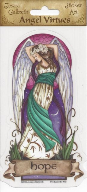 HOPE Angel Virtues Fairy Sticker Car Decal Jessica Galbreth faery faerie
