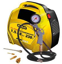 STANLEY AIR KIT COMPRESSORE ARIA PORTATILE SENZA SERBATOIO 1,5 HP 8 BAR CON ACC.