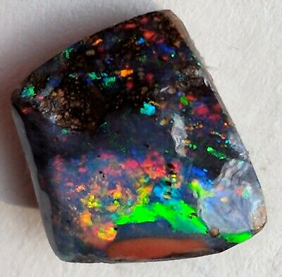Australian Boulder Opal Natural Unpolished Cabochon Fancy Shape Multi Fire Good Quality Boulder Opal-001