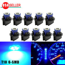 10x T10 Twist Lock Wedge Instrument Panel Led Dash Light Bulb PC168 PC194 Blue
