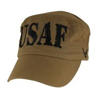 U.s. Air Force Flat Top Hat - Usaf Coyote Brown Cap 6657
