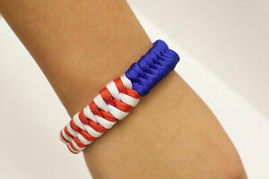 Paracause-USA-Ribbon-Paracord-Survival-Bracelet-Red-White-amp-Blue