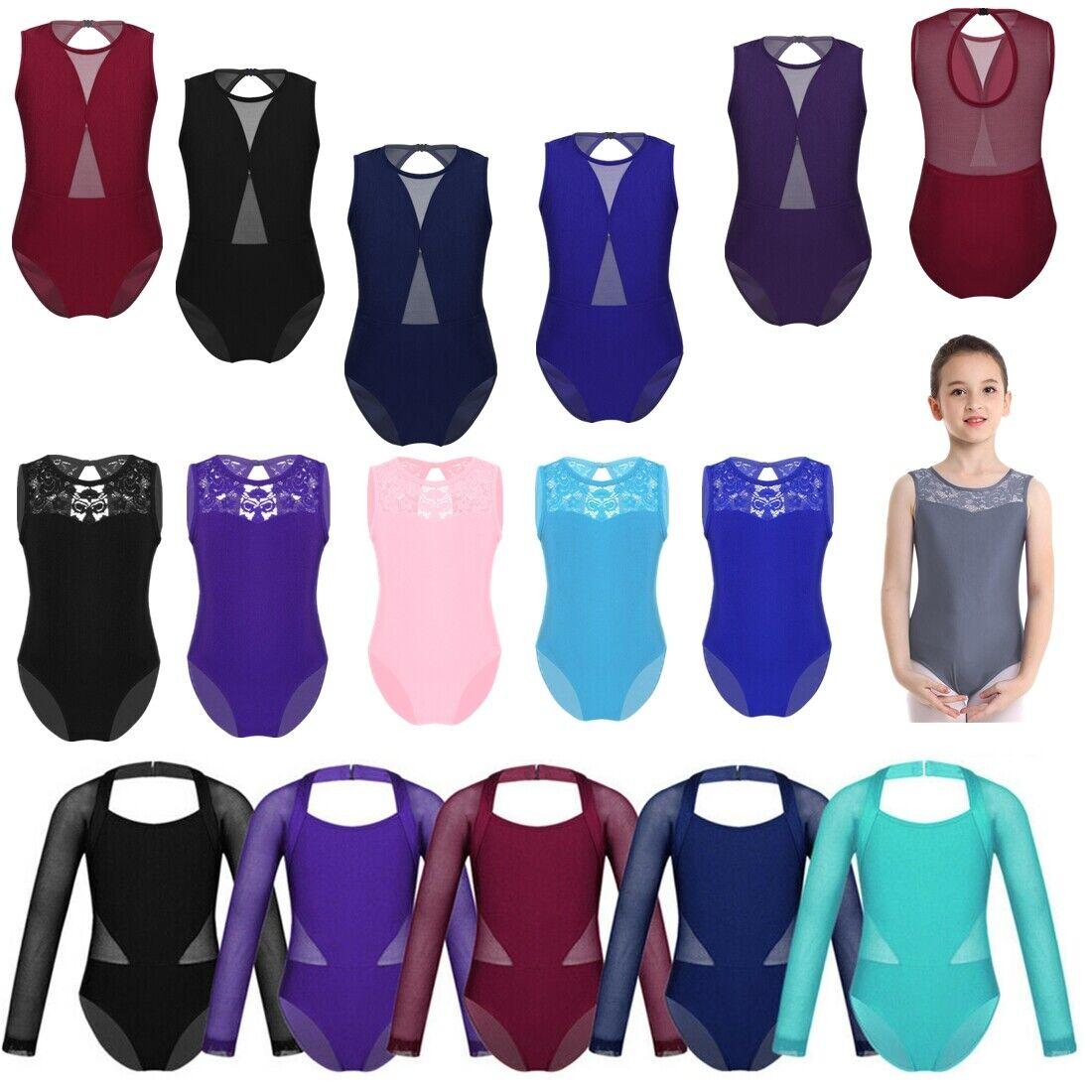 Toddler Girl Ballet Dance Leotard Sports Bodysuit Yoga Unitard Dancewear Costume