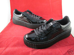 Creeper 6 Leather Rihanna Puma X 3 Cracked Black 8 Fenty 7 5 4 adxBqO