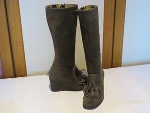 Green 4 London Sludge Eu £145 High Rrp Suede Boots Wedge Knee 37 Fly Sari Uk Oil qtpWqSy