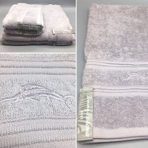 4pc-TOMMY-BAHAMA-Embroidered-Marlin-Dusty-Lavender-2-Bath-Hand-Towel-Set-Cotton