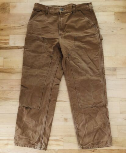 CARHARTT Dungaree Fit Pants Mens 35x30 Double Fron