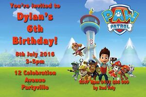 picture relating to Printable Paw Patrol Birthday Invitations identify Information above Printable Invite Individualized PAW PATROL Small children BIRTHDAY Invitation JPEG On your own Print