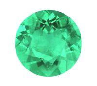 Natural Green Emerald Round Cut 3mm Gem Gemstone