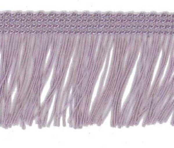 Lilac 50mm Cut Rayon Fringe, Sash Fringe, Fringing