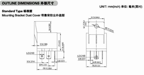 Socket Hsin Da 1set Automotive Auto Car Power Relay 961A-1C-12DM 40A Coil= 12V