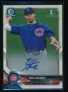 NICO-HOERNER-AUTO-2018-1st-Bowman-Draft-Chrome-Autograph-Cubs-Rookie-Card-RC