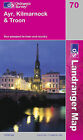 Ayr, Kilmarnock and Troon by Ordnance Survey (Sheet map, folded, 2002)