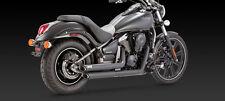 KAWASAKI VN 900 Custom & Classic BLACK SLASHCUT EXHAUST (Vance and Hines 48397)