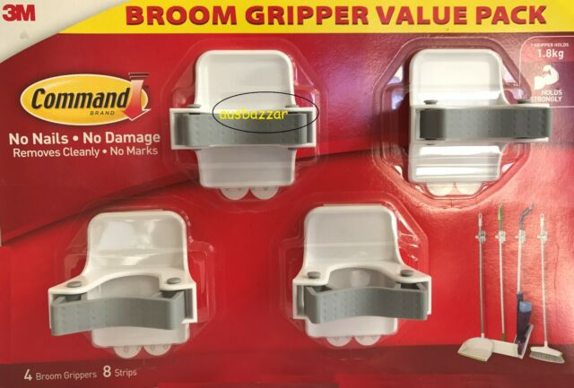 New 3M Command Brand Broom Gripper Value Pack **Free Postage**