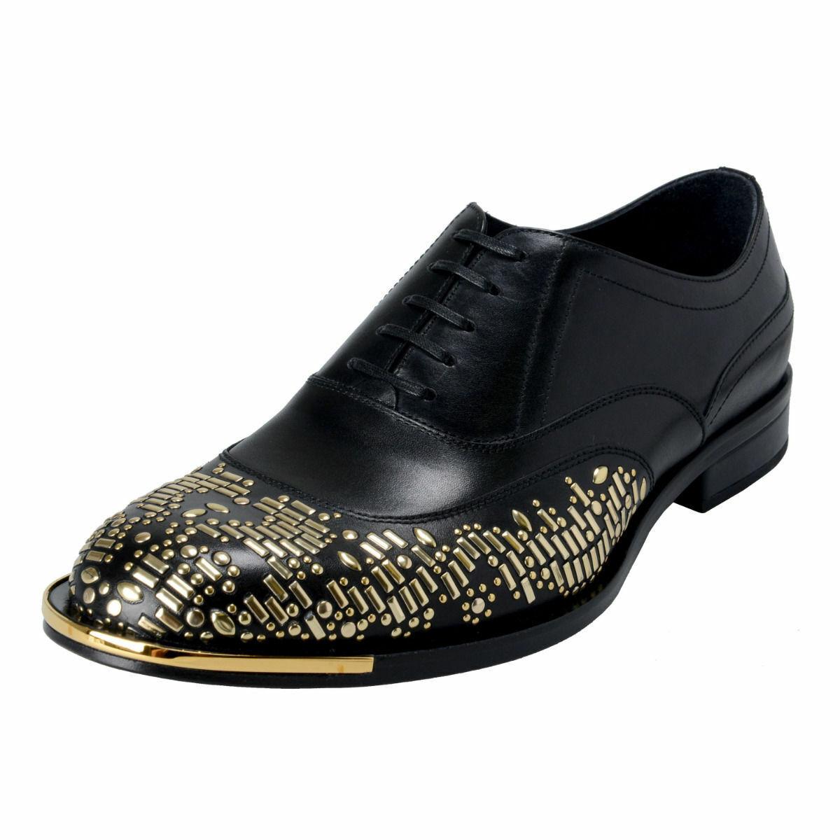 Versace Men's nero Beaded Lace Up Oxfords scarpe Sz 7 8 8.5 9