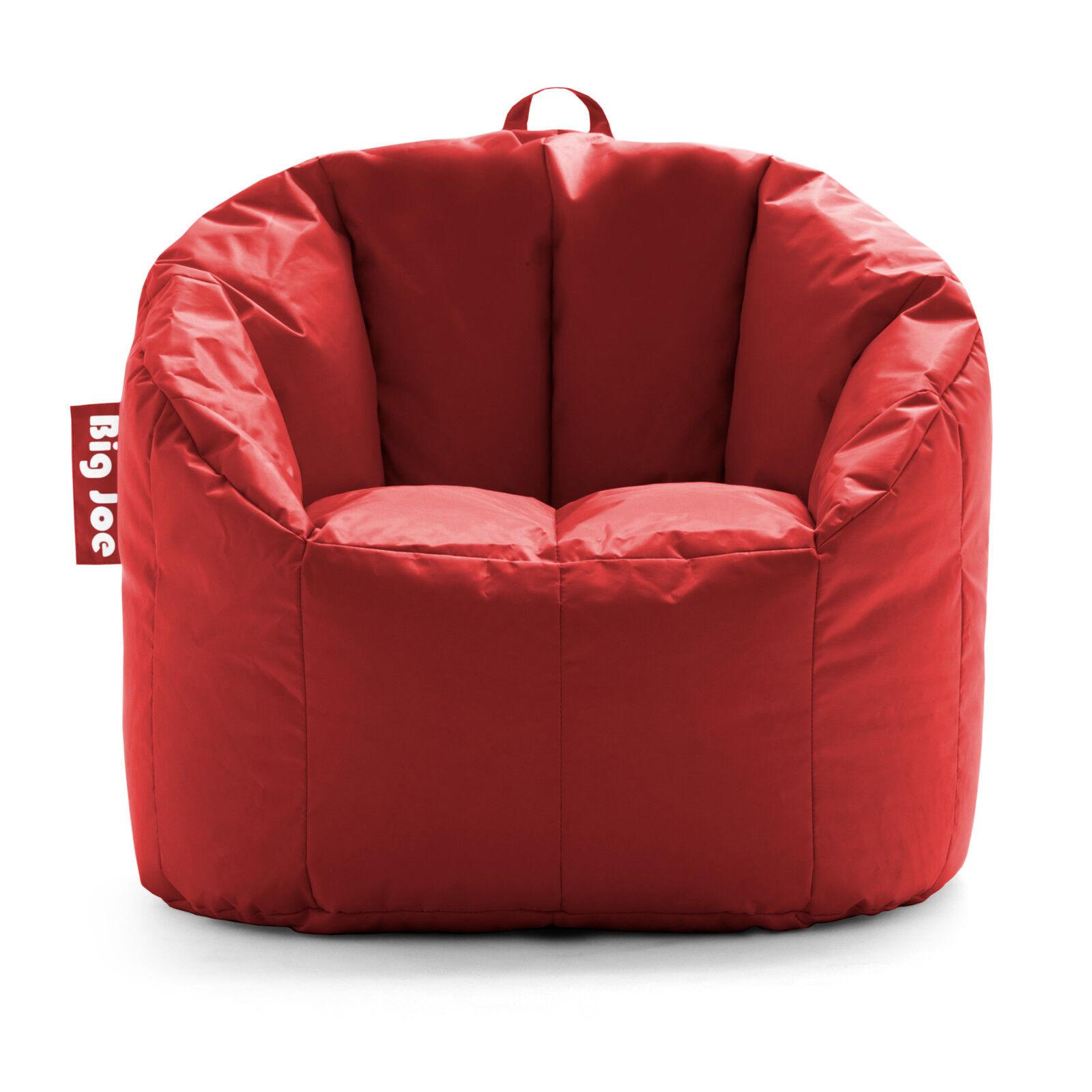 Big Joe Milano Bean Bag Chair Red Color Living Room Home Soft Comfortable Indoor
