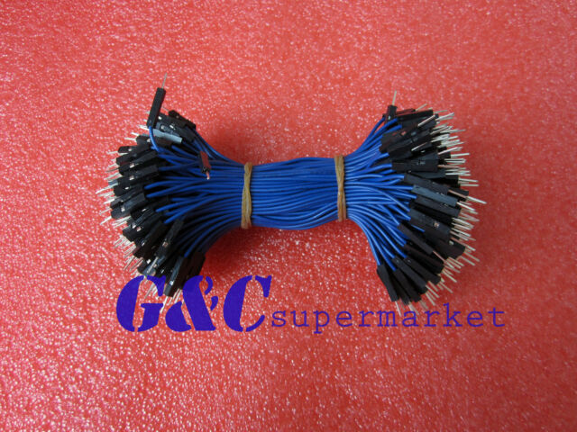 50PCS  2.54mm Male to Male 15cm Blue Dupont Wire Jumper Cable GOOD QUALITY