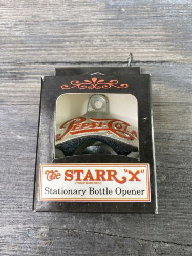 Pepsi Cola RARE bottle opener stationary Starr X mounting mount man cave NEW