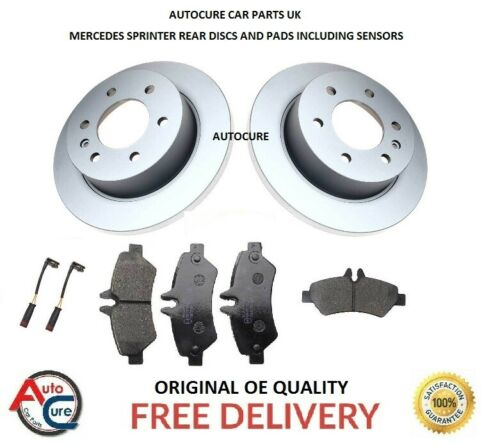 MERCEDES SPRINTER 906 311 313 SERIES REAR DISCS AND PADS INC SENSORS 2006 ON