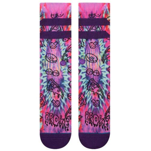 Stance NEW Men/'s Broke Socks Purple BNWT