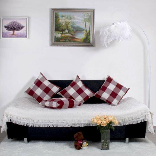 Christmas Decor Farmhouse Buffalo Checkers Plaid Cotton Linen Throw Pillow Case
