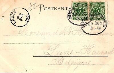Bahnpost, Bahnpoststempel Eisenach-frankfurt Auf Ak V. Gelnhausen, 1900