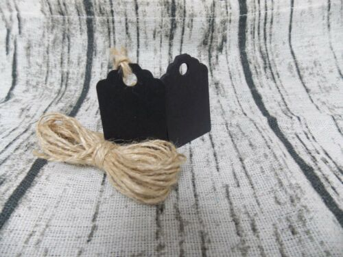 """12//24//36 /""""Raven Black/"""" Handmade Small Gift Tags,Premium Recycled Card"""