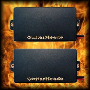 Guitar-Parts-GUITARHEADS-PICKUPS-ACTIVE-HUMBUCKERS-Set-of-2-BLACK