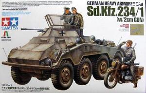 Tamiya-37019-1-35-Scale-Model-Kit-German-Heavy-Armored-Car-SdKfz-234-1-w-2cm-Gun