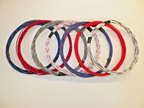 18 GXL HIGH TEMP 7 STRIPED COLORS 25 FEET EACH 175 FEET TOTAL AUTOMOTIVE WIRE