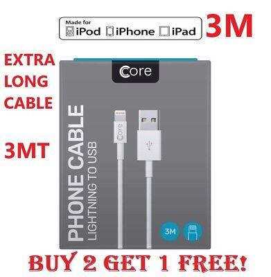 In Scatola APPLE iPhone 6 5 7 Plus iPad Lightning Dati USB Caricabatterie Cavo Lungo 3 M | eBay