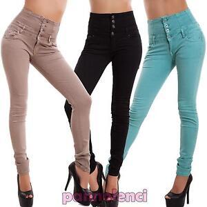8b6ab79c68c Jeans pantalon pour femme taille haute skinny slim cigarette ...