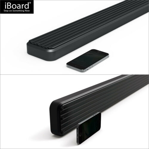"""iBoard Side Steps Nerf Bars 4/"""" Black Fit 00-06 Toyota Tundra Access Cab"""