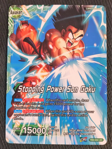 Stopping Power Son Goku TB2-034 UC Dragon Ball Super TCG NEAR MINT