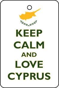 KEEP CALM AND LOVE CYPRUS Auto Lufterfrischer / Duftaufhänger