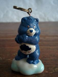 CUSTOM-1985-Vintage-Care-Bear-1-5-034-ATTACHABLE-Keychain-GRUMPY-BEAR-Never-Made