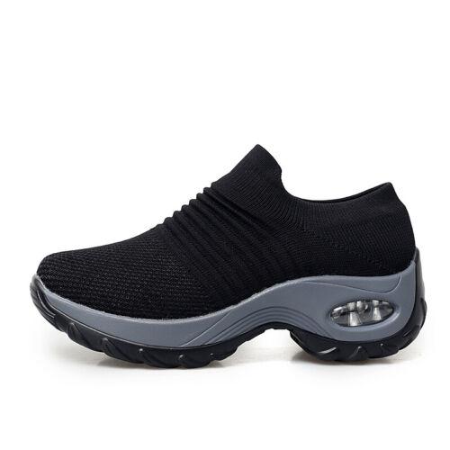 Womens Fashion Casual Shoes Sport Running Non-slip Walking Tennis Sneakers Gym