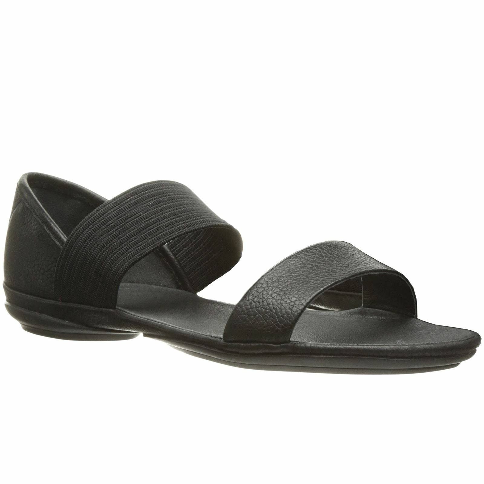 Camper right Nina negro mujer Summer sandals smooth Leather