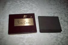 NEW NIB PIERRE CARDIN MEN/'S LEATHER CREDIT CARD WALLET PASSCASE TAN 5979-04